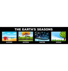 Scene of different seasons vector image