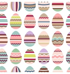 Seamless easter pattern with painted eggs vector