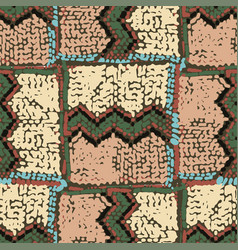 Seamless pattern traditional african zigzag vector