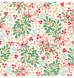 Seamless pattern with green and brown bouquets vector