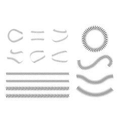 Set baseball lace or decorative baseball seam vector