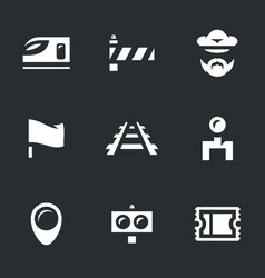 Set train icons vector