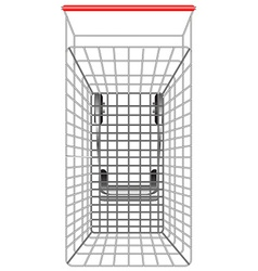 Shopping cart from topview vector