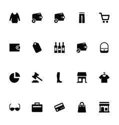 Shopping icons 2 vector