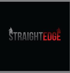 Straight edge drug free youth community vector
