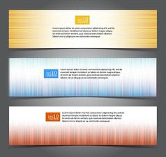 Striped web banners vector image