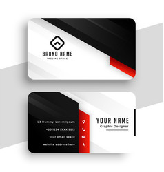 stylish red theme business card template design vector image