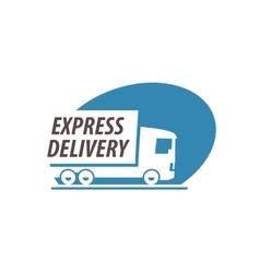 Trucking logo design template truck or vector