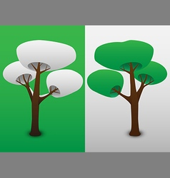 Two trees vector