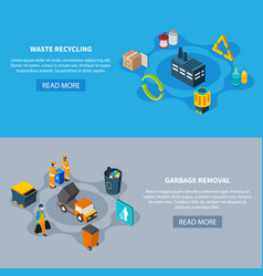 waste separation banners set vector image
