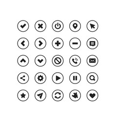 web application navigation interface icon set vector image
