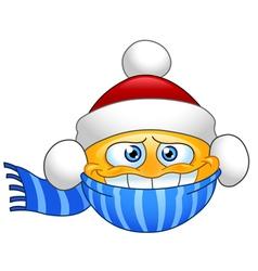 winter emoticon vector image