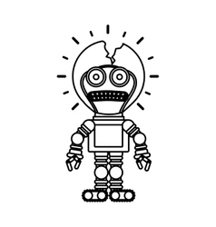 Isolated toy robot damaged design vector image vector image