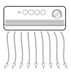 wall heater icon outline style vector image