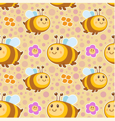 bees pattern vector image