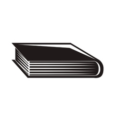 Black silhouette book with cover vector