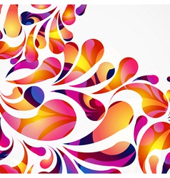 Decorative background made of colorful arc drops vector image vector image
