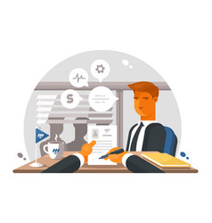recruitment process in office vector image