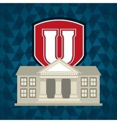 university emblem education icon vector image