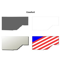 Crawford Map Icon Set vector image