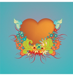 funky valentine design vector image vector image