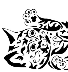 High quality kitty for coloring vector image vector image