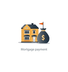 House budget icon real estate investment rent vector