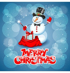 Snowman magic vector image