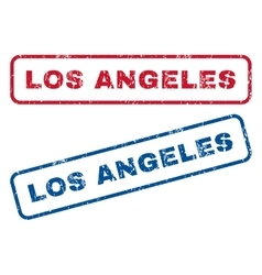 Los Angeles Rubber Stamps vector image