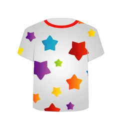 T Shirt Template- Colorful stars vector image vector image