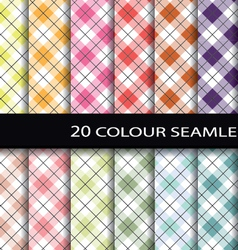 20 color seamless patterns vector