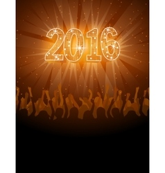 2016 happy New Year disco flyer vector image