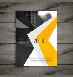 Abstract business brochure template annual report vector