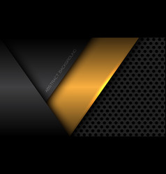 abstract yellow grey metallic geometric overlap vector image