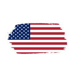 American flag grunge old flag usa isolated white vector