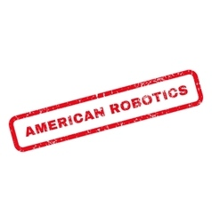 American Robotics Text Rubber Stamp vector
