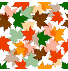 autumn seamless background maple leaves vector image
