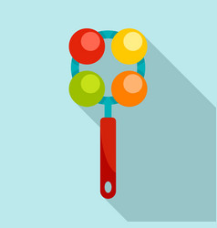 ball rattle toy icon flat style vector image