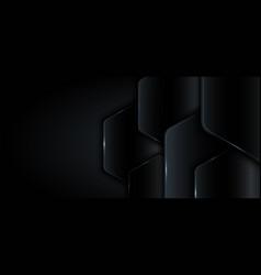 banner web template 3d geometric black metallic vector image