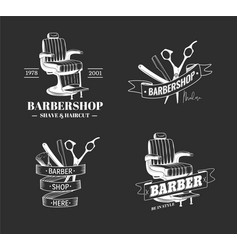 barber shop labels vector image