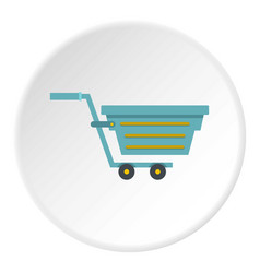 blue shopping cart icon circle vector image