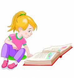 Book girl vector