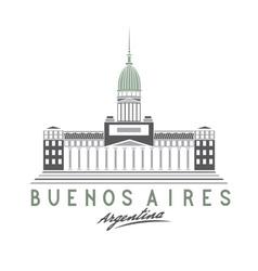 building congress in buenos aires argentina vector image