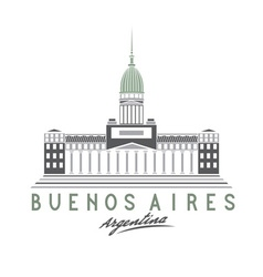 Building of Congress in Buenos Aires Argentina vector