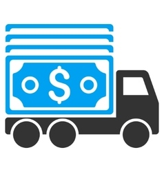 Cash Lorry Flat Icon vector image