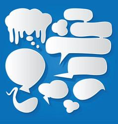 Comic bubble speech balloons speech cartoon 193 vector