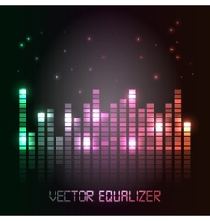 Cool equalizer background vector image