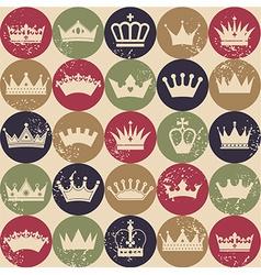 Crown seamless pattern vector