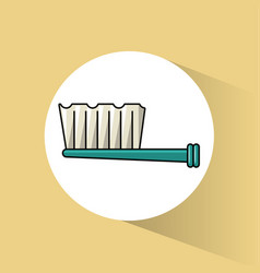 dental brush care vector image