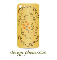 design phone case vintage decorative elements vector image